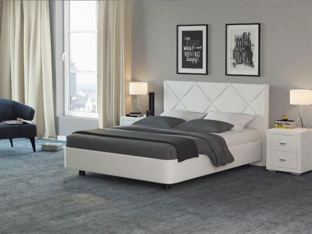 Белая кровать Rocky 1